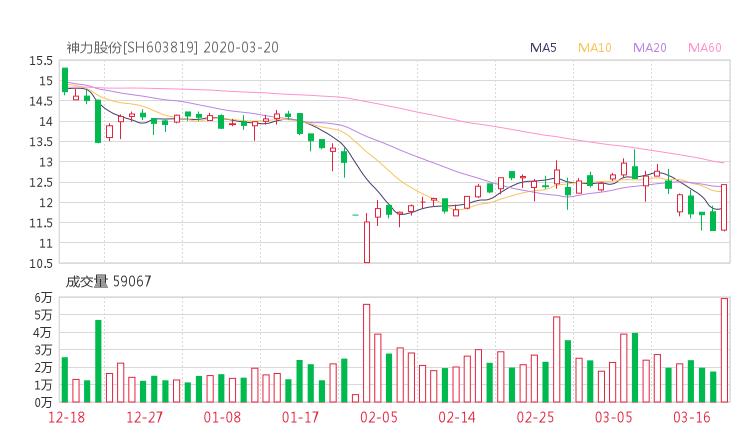 603819股票收盘价 神力股份资金流向2020年3月20日